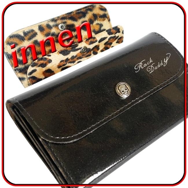 geldb rse damen glitter leopard gro schwarz rockabilly ebay. Black Bedroom Furniture Sets. Home Design Ideas