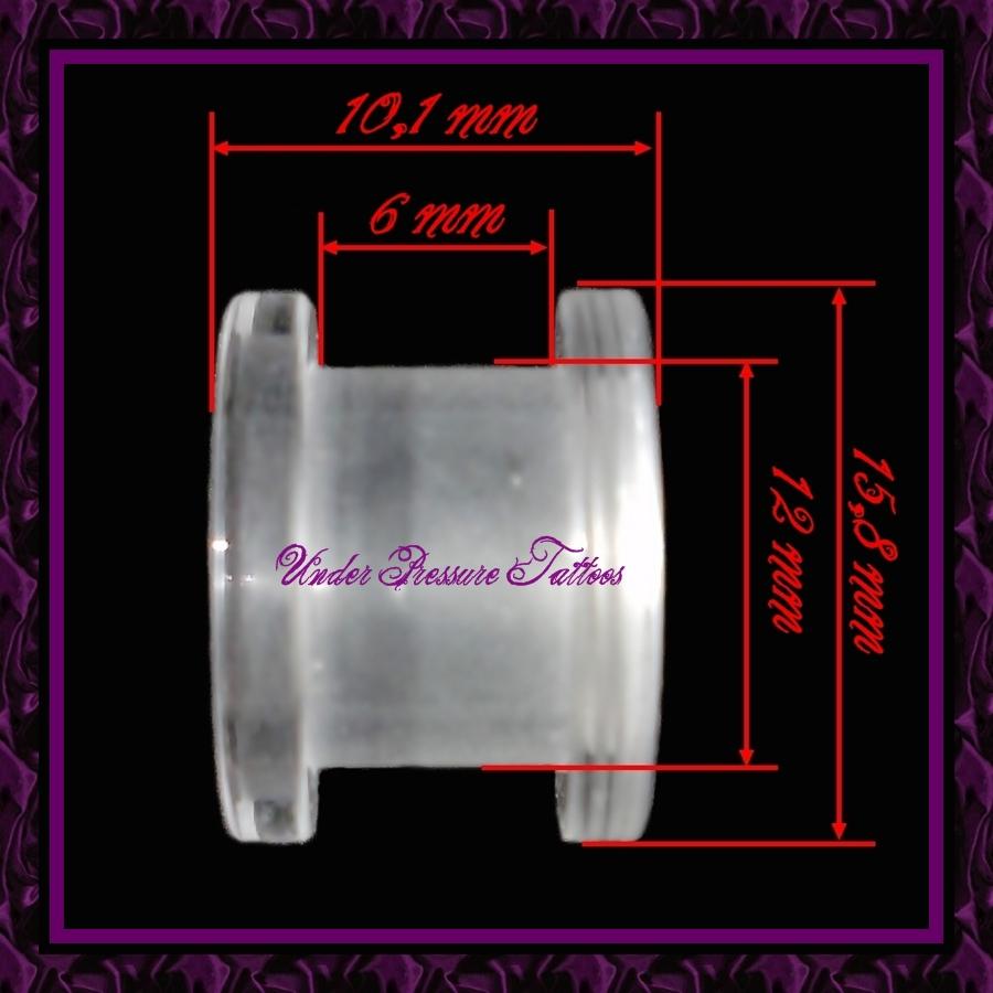 flesh tunnel plug 12 mm acryl klar transparent screwon ebay. Black Bedroom Furniture Sets. Home Design Ideas